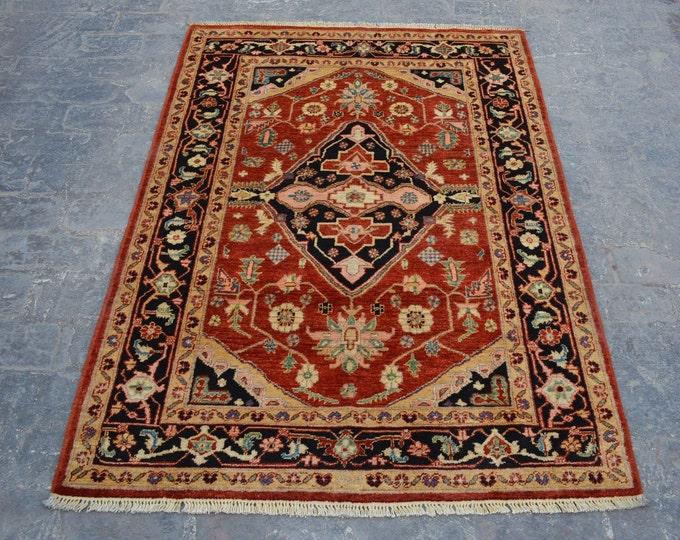Hand knotted Turkish oushak rug wool rug  / decorative rug vintage afghan rug/ oushak turkish rug