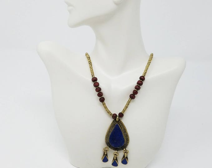 Afghan Kuchi pendant, necklace tribal necklace