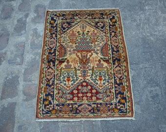 Antique Turkish kayseri Nomadic tribal handmade wool prayer rug / Decorative rug vintage turkish traditional kawdani prayer rug