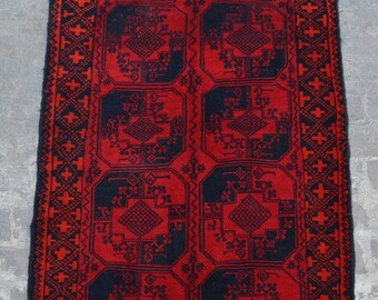 Afghan turkoman tribal filpai handmade wool rug / Decorative rug vintage afghan traditional elephant foot rug