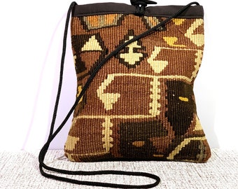 Boho Messenger Bag Women Crossbody Bag Kilim Bag/ turkish handmade bag