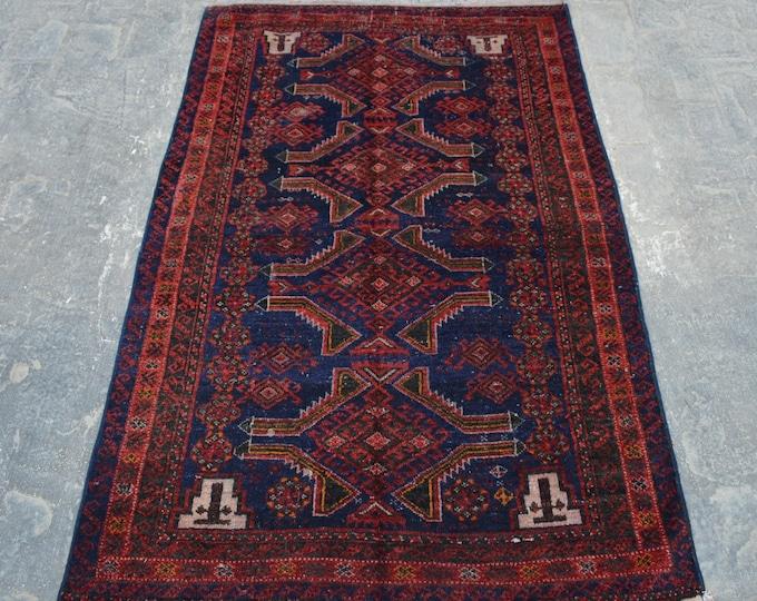 Elegant Vintage Afghan nomad baluchi tribal handmade wool rug /Decorative rug vintage afghan traditional rug Nomadic decorative rug