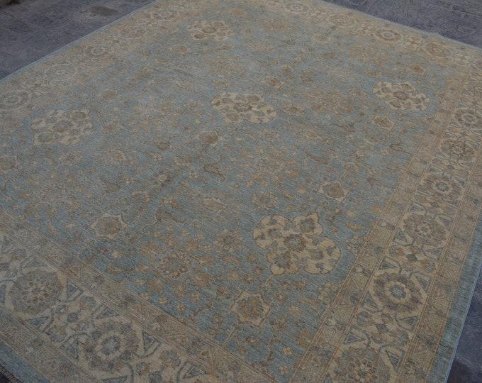 Handmade Unique Design Oushak Chobi Afghan Rug Oriental Carpet / best quality wool rug handspun wool