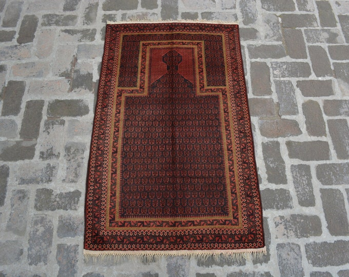 Afghan Handmade Tribal Prayer rug/ Free Shipping