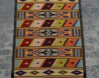 Vintage Stunning handwoven tribal Afghan hazara Ghalmori kilim / Traditional kuchi kilim decorative Turkish kilim