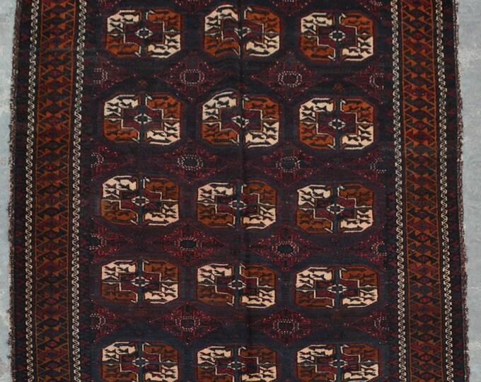 Elegant Afghan turkoman traditional vintage nomad chobbash baluchi rug