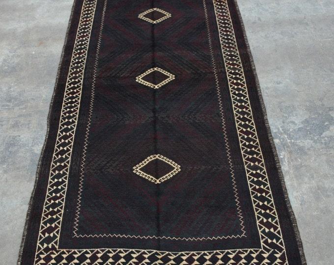 One of best Afghan vintage Zanjir Gul Rug  100% wool