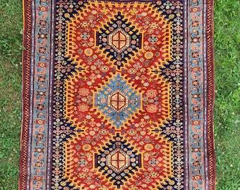 Fine quality handmade kazak rug, living room rug, home decor rug, orientation, free shipping