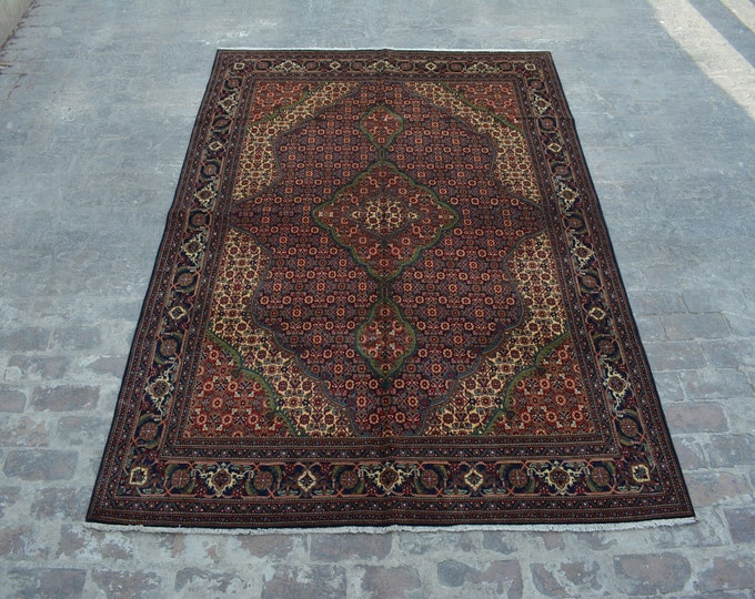 High Quality Afghan turkoman hand knotted Tabriz Style rug / Decorative Afghan rug / 100% wool