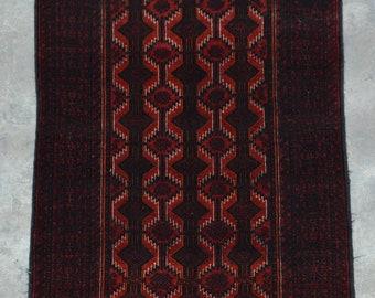 Elegant Afghan Decorative vintage Taimani baluchi rug