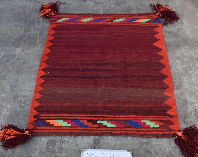 Afghan Sofreh kilim, Turkish kilim, Flat weave kilim, Square kilim, tribal kilim