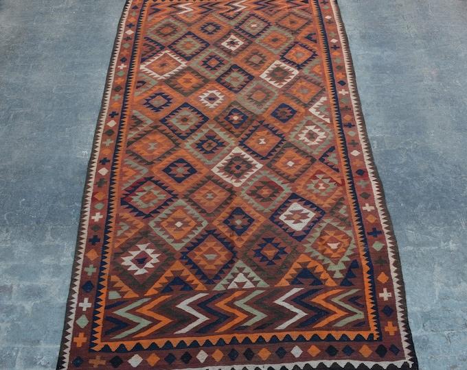 "6'6 x 13'3"" ft. - Vintage Large Afghan Ghalmori kilim Rug, Tribal handwoven kilim"