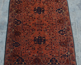 FREE SHIPPING 3.5 x 5.2 ft Afghan Vintage Tribal turkman rug /Home decor Rug this rug will make your house even more Beautiful and colorful