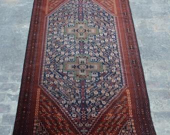 Large Vintage Afghan turkoman tribal  handmade wool rug / Decorative rug vintage afghan traditional rug