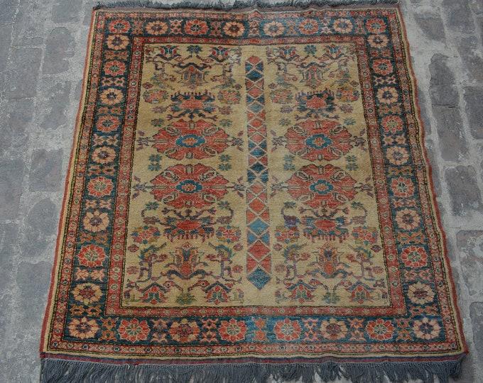 Hand knotted Afghan kazak rug / elegant rug decorative rug living room rug / stunning hand knotted rug traditional afghan turkoman kazak rug