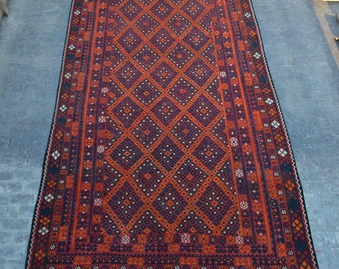 "8'9 x 16'0"" ft. - Vintage Large Afghan Ghalmori kilim Rug, Tribal handwoven kilim"