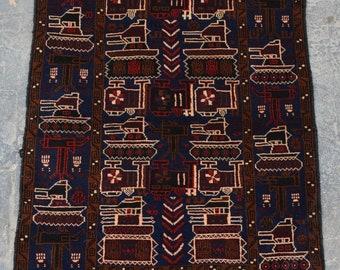 Vintage baluchi toptank rug