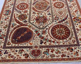 6'6 x 9'7 Turkish Medallion rug - luxury handmade rug - Mamluk handmade rug - 50x50 Quality wool rug - Afghan best quality rug