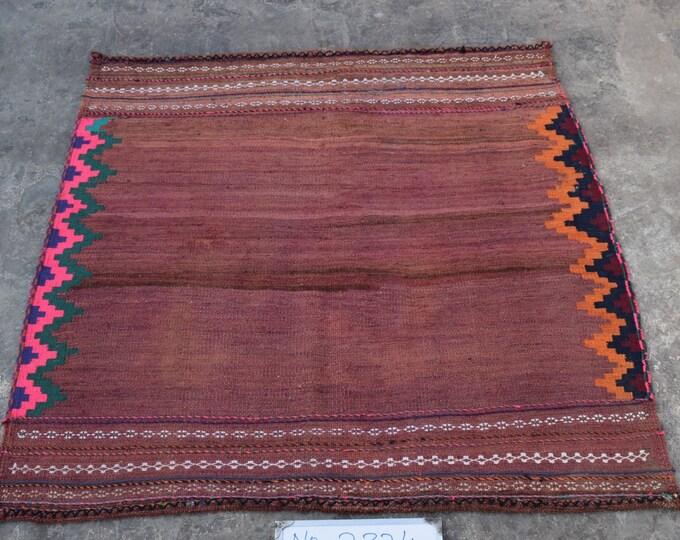 Vintage Afghan Sofreh kilim, Turkish kilim, Flat weave kilim, Square kilim, tribal kilim