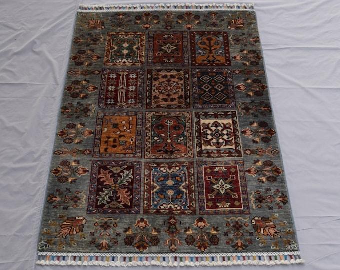 Tribal Ayna Rug - Multicolor Afghan Hand Knotted wool Rug - Bathroom rug - Entryway rug - 87x131 carpet - Bedroom rug - Kitchen rug