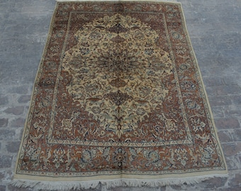High Quality Pakistani hand knotted Tabriz Style rug / Decorative Paki rug / 100% wool