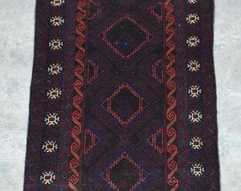 Elegant Afghan Decorative vintage baluchi rug runner