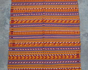 Traditional Uzbek Handwoven Gajari kilim Blanket kilim rug