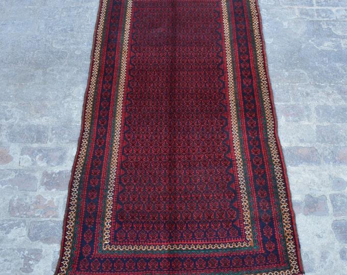 Vintage Afghan tribal hand knotted rug decorative rug / Stunning Afghan turkoman baluchi rug / tribal nomadic kuchi rug - turkish rug