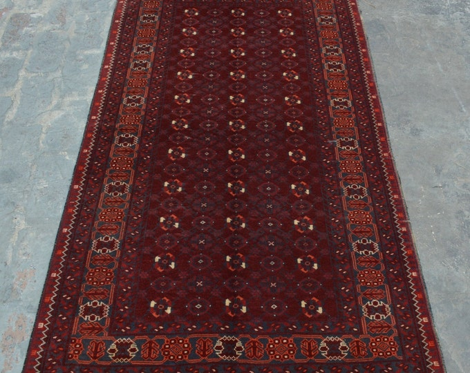 Vintage Traditional hand knotted Afghan Qunduzi rug 100% wool