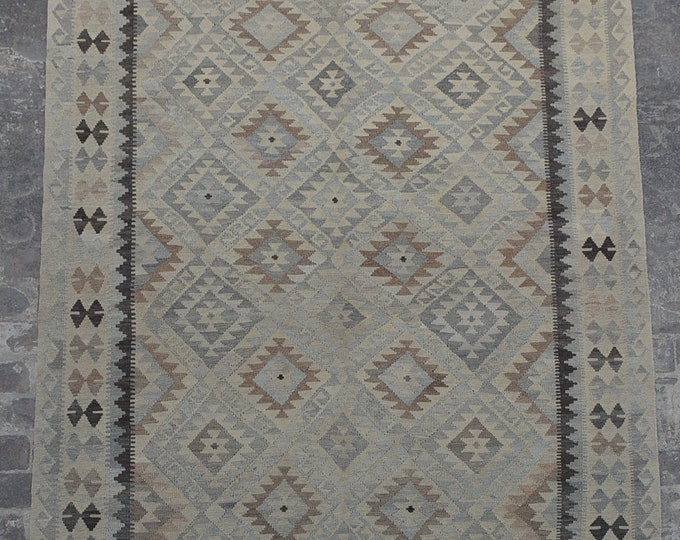 Large Afghan Ghalmori neutral kilim rug decorative rug