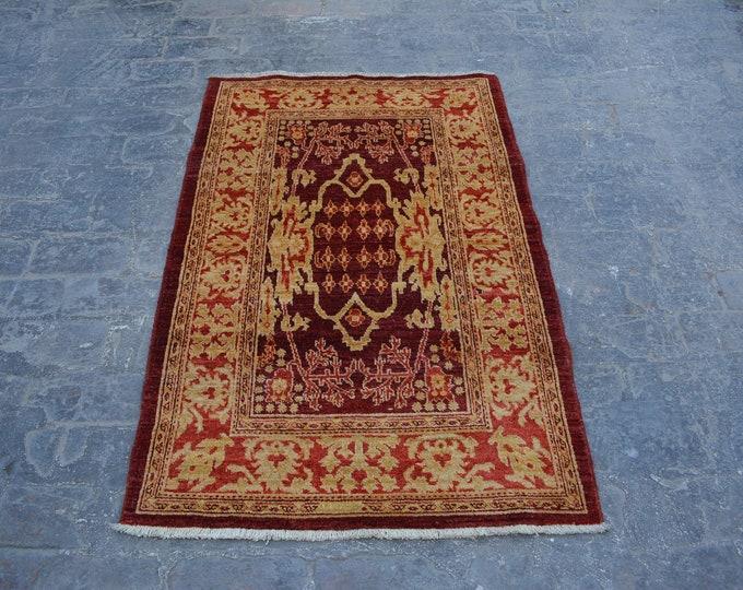 Hand knotted Afghan tribal gabbeh rug / decorative rug vintage afghan rug/ oushak turkish rug