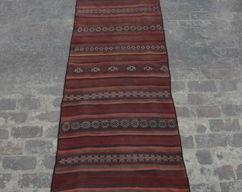 Vintage Afghan handwoven Hazara baluchi kilim/ Decorative Afghan Traditional kilim rug 100% wool / bohemian home decor kilim rug
