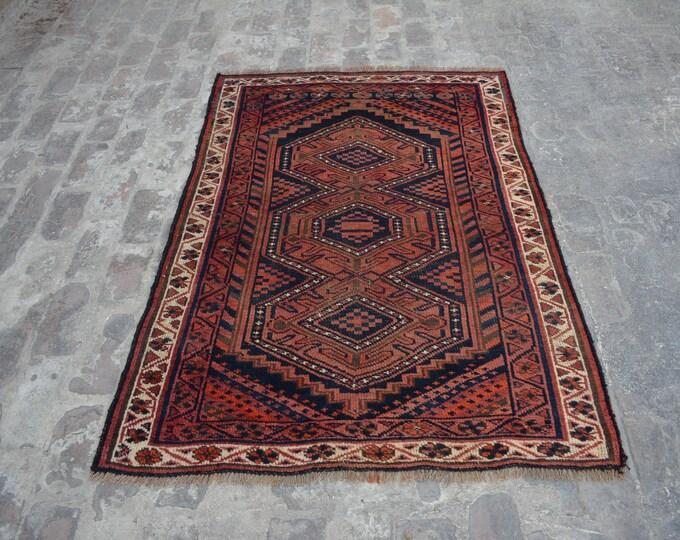 Antique Afghan turkoman tribal filpai handmade wool rug / Decorative rug vintage afghan traditional rug