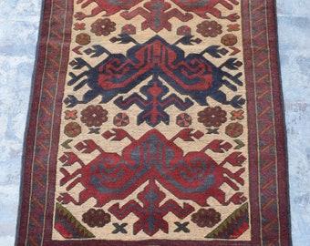 3'0 x 4'9 Afghan tribal berjesta kilim rug / free shipping