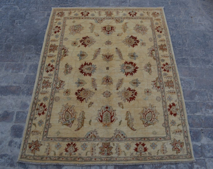 Vintage Afghan tribal hand knotted rug decorative rug / turkoman afghan rug / nomadic bohemian home decor rug / turkish kilim rug baluch rug