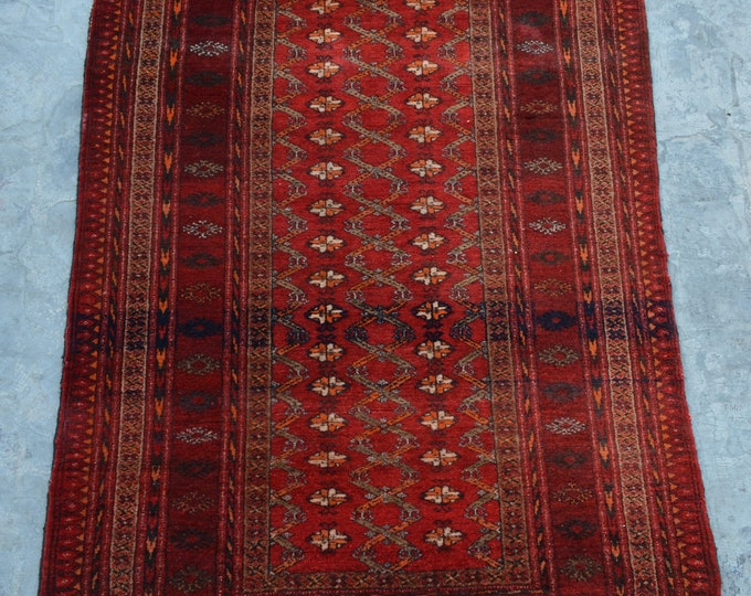 FREE SHIPPING 3'4 x 5'11 ft Vintage Afghan tribal Baloch rug/ This Traditional Rug will make you room even more beautiful and colorful