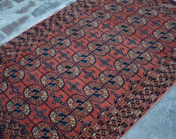 Semi antique turkoman teke rug 100% wool / nomadic hand knotted rug best quality tekke rug