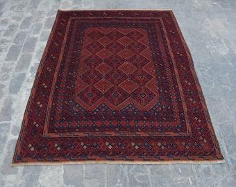 Elegant Afghan tribal mushwani kilim rug /mixture of kilim and rug - Decorative tribal nomadic mishwani kilim rug/bohemian decor rug