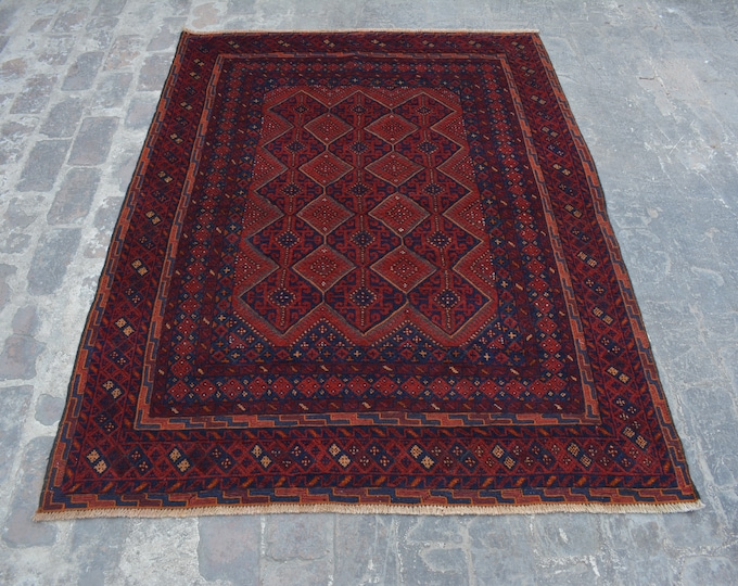 Elegant Afghan tribal mushwani kilim rug /mixture of kilim and rug - Decorative tribal nomadic mishwani kilim rug/bohemian decor rug
