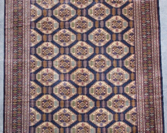 9'10 x 12'7 ft. Fine Large Afghan Turkmen Handmade Rug, FREE SHIPPING