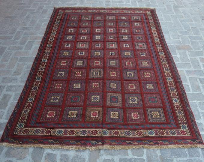 Elegant Handmade Afghan Large Kilim Rug/ Free Shipping/ 195 x 279 cm