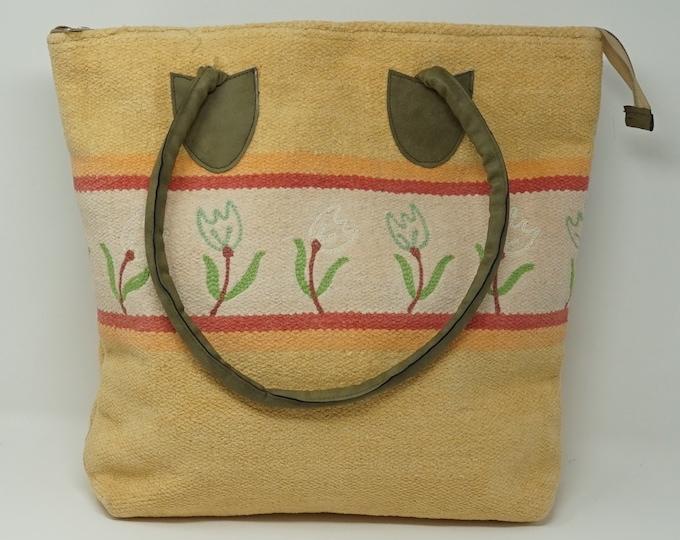 Beautiful handmade kilim Tote handbag / Bohemian decorative kilim handbag