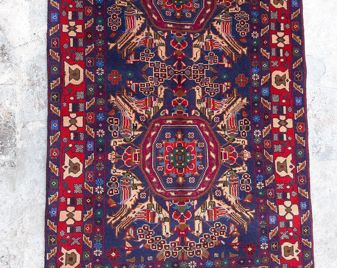 2'11 x 4'9 ft. Fine Hand knotted Rare Rug