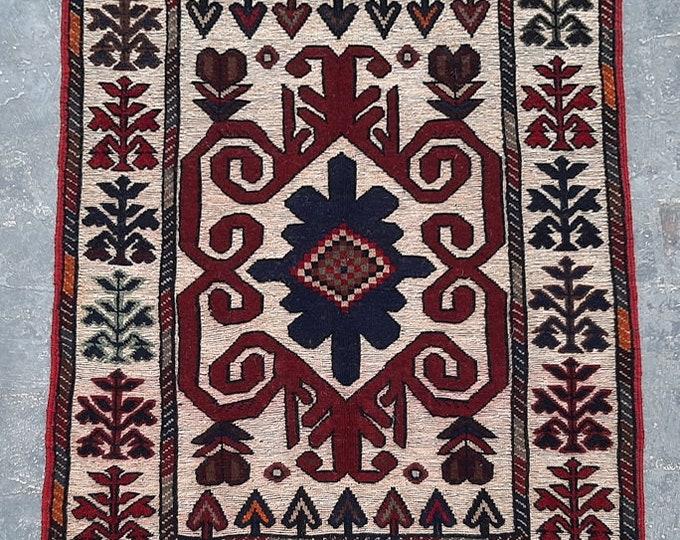 3'0 x 4'6 ft. Afghan Tribal handmade Burjesta kilim rug, Free Shipping