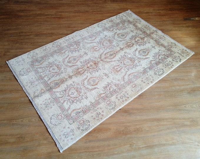 FREE SHIPPING 3'6 x 5'9 ft Stunning hand knotted Afghan Oushak rug ghazni wool this Oushak rug will make your room even more beautiful