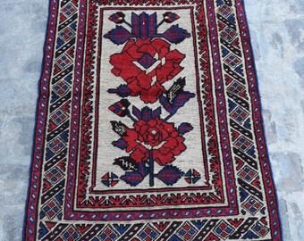 Free Shipping/Afghan mixture kilim rug Berjesta Rug 100% wool/2'7 x 4'4 ft.