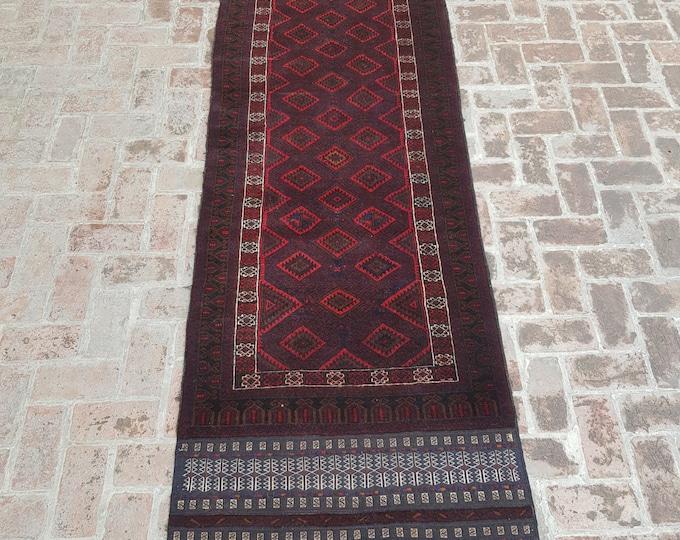 100 x 318 Afghan tribal handmade mashwani kilim runner rug - hallway rug runner - wool runner rug