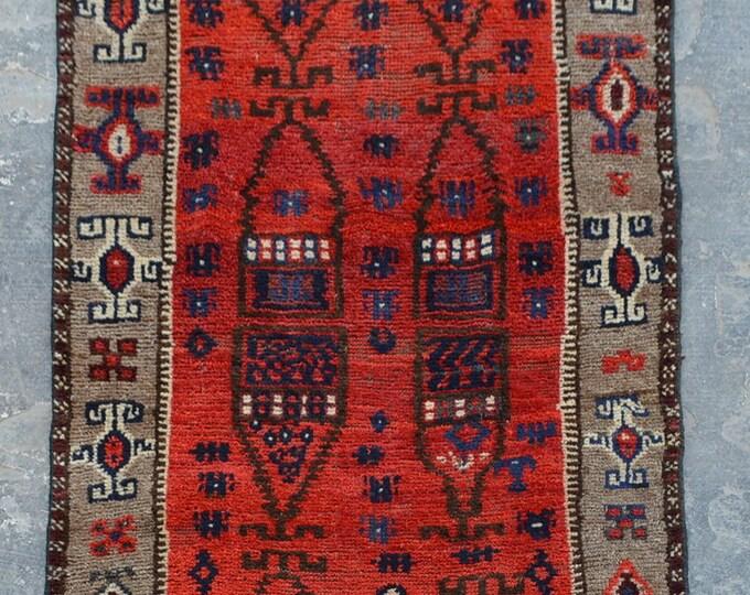Elegant vintage Afghan tribal baluchi rug