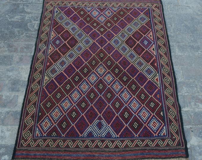 Stunning Afghan handmade kilim rug Mushwani kilim rug  / tribal Afghan decorative burjesta kilim rug