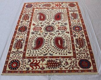 5'0 x 6'7 Turkish Fine rug - luxury handmade rug - Tribal handmade rug - 50x50 Quality wool rug - Afghan best quality rug